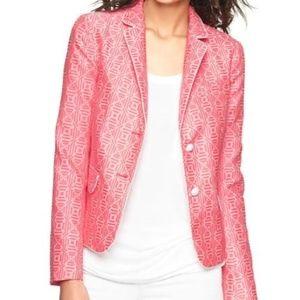 GAP The Academy Blazer Jacquard Neon Pink
